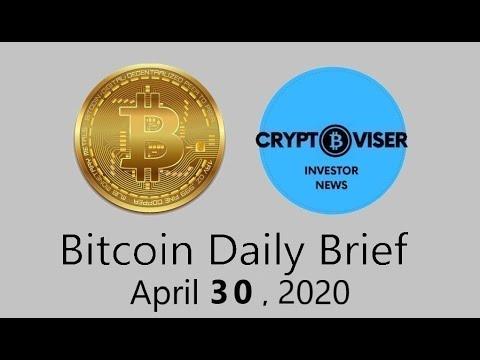 Bitcoin Daily & 30 Million Jobs CUT - April 30, 2020