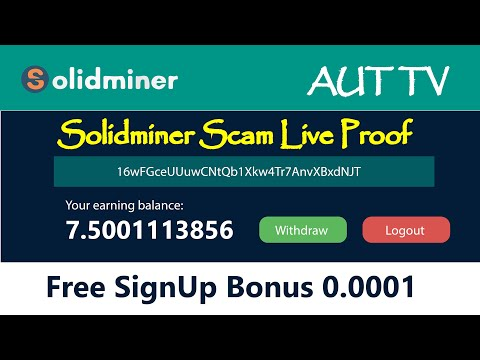 Solidminer.io New Free Bitcoin Cloud Mining Site Update Scam 0.0015 Btc Full Proof Urdu Hindi