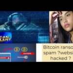 Received email for website being hacked//Scam email demanded Bitcoin//Bitcoin Ransom Spam