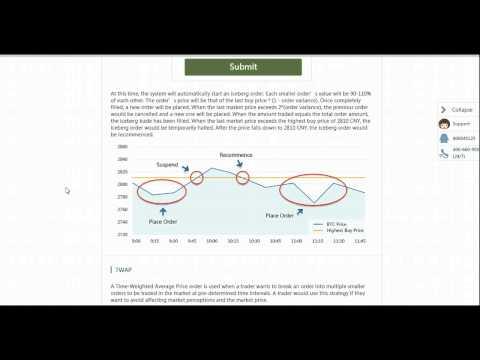 OKCoin Iceberg Algorithmic Order Tutorial