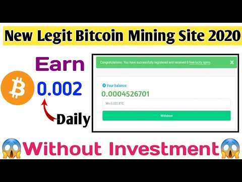 New Legit Free Bitcoin Mining Site 2020 with Free Lucky Spins | Live Earning Proof