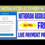 Live Payment Withdraw Proof | High Earning Bitcoin Mining | Daily Earn Free Bitcoin |EarnCryptoCoin