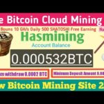 Hasmining Scam Or Legit||New Free Bitcoin Mining Site 2020||Bitcoin Ganarent 2020||Bouns 10 GH/s