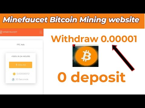 Minefaucet Bitcoin Mining Site | Earn Money By Minefaucet | Withdraw 0.00001 | Ahmad Online