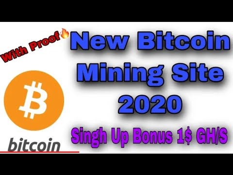 New Free Bitcoin Mining Site 2020 | SinghUp Bonus 1$ | BTC Mining Site | Btc Earning Without Invest