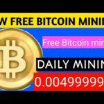 New Free Bitcoin Mining website Top website//daily mining 0.00499999