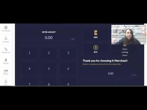 Using K-Merchant Crypto Point Of Sale