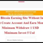 Free Bitcoin Earning Site | Bitcoin Mining Site Without Investment