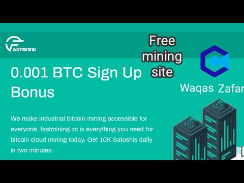 Fastmining.cc New website 2020 | Free Bitcoin mining website | 0.001 BTC free