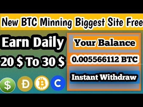 New  BTC mining Site, Biggest BTC new Free website, New Bitcoin Mining Website 2020