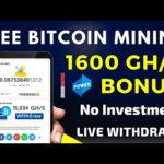 New free Bitcoin Mining website 2020 | Earn 0.0875 Bitcoin daily without deposit | SagMining