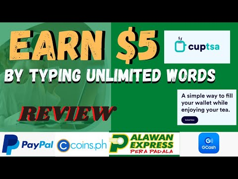 CUPTSA - EARN $2 to $5 BY TYPING WORDS Daily / REVIEW / HOMEBASE JOB