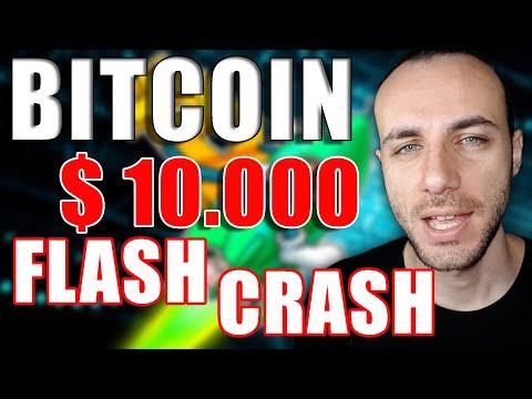 BITCOIN A $10000 MA È SUBITO FLASH CRASH - CRYPTO NEWS