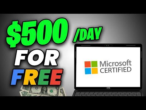 Make $500 PER DAY Using Microsoft Certification [Make Money Online]