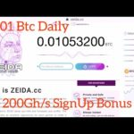 Zeida.cc New Bitcoin Mining Site Earn 0.01 btc Daily Scam Or Legit Payment/Withdraw Proof
