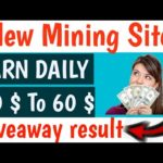 New Mining Site, Earn Daily 50 dollers, New Bitcoin Mining Site