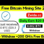 New Bitcoin Mining Site 2020 Without Investment || Free Bitcoin Mining || Zeida.cc Payment Proof