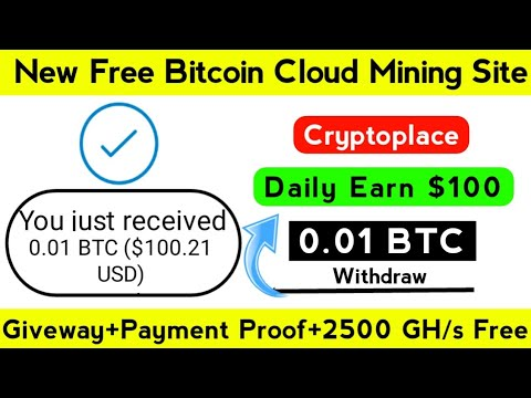 New Bitcoin Cloud Mining Website In 2020 | Free Bitcoin Mining | Cryptoplace.cloud Payment Proof