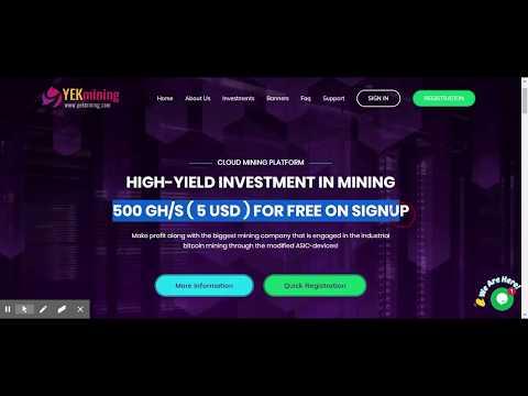 YekMining Limited  - Bitcoin Mining with Sign up Bonus 5$
