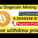 New Bitcoin Site Long Project 2020 ! Earn Free Dogecoin Live Peyments Proof + Dogecoin Giveaway
