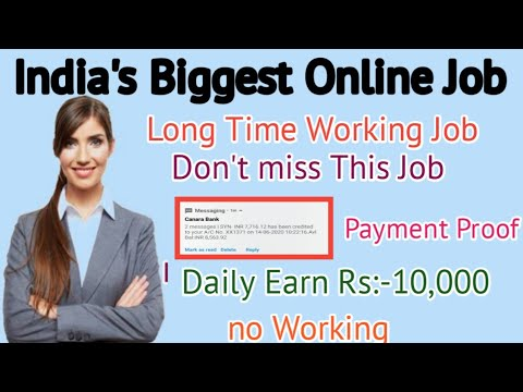 India's Biggest online job Long Time Working Job Payment Proof ||TamilEarnTricks||