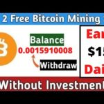 New Free Bitcoin Mining Site 2020  Earn 0 0015910008 BTC Daily  Without Investment