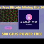 New Free Bitcoin Mining Site 2020 500 GHS POWER FREE