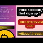 New free bitcoin mining site 2020| without investment  #bitcomining
