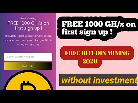 New free bitcoin mining site 2020  without investment  #bitcomining