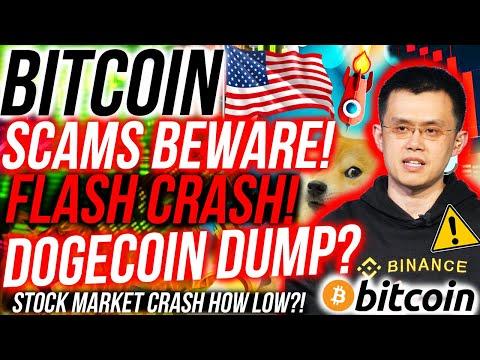 WARNING BITCOIN SCAMS!! DOGECOIN DUMP? STOCKS CRASH BITCOIN?! CZ BINANCE CANCELLED!!! Crypto News