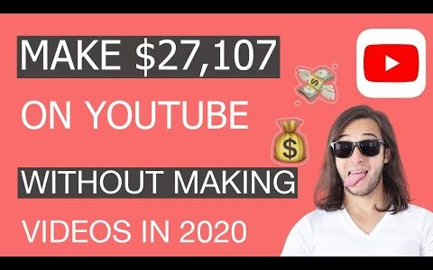 (UNIQUE) MAKE $27,107 ON YOUTUBE WITHOUT MAKING VIDEOS ( Make Money Online )