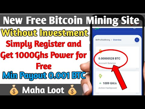 Free Bitcoin Mining Website Without Investment in Telugu || bitprofitsmining || Krishna Tech Guru ||