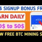 20$ Signup bonus, New Free Bitcoin Earning Site, New Bitcoin Mining Site 2020, No Investment