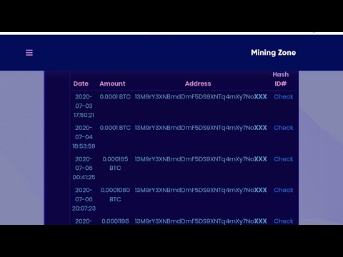 Miningzone.Cloud New Free Bitcoin Cloud Mining Site 2020 Legit And Scam Live Withdraw Payment Proof