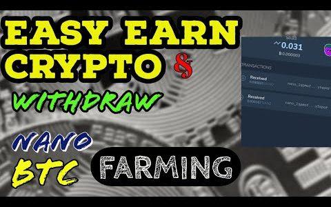 CRYPTO Farming  | BTC and NANO | withdrawal proof | Quicrypto