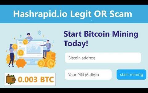 Hashrapid i.o site 2020     Legit or scam    bitcoin mining site   video with proof    Urdu / hindi
