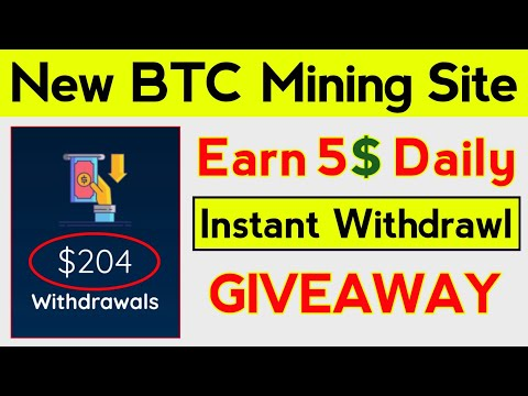 New Bitcoin Mining Website Launched | Earn Daily Bitcoin Without investment 2020