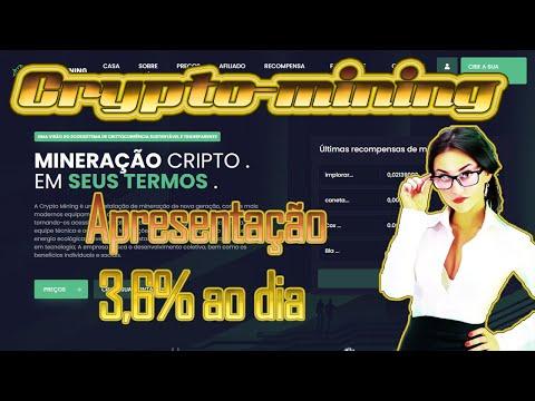 CRYPTO-MINING APRESENTAÇÃO RENDIMENTO DE 3,6% AO DIA E VAMOS LUCRAR