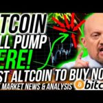 BITCOIN WILL PUMP HERE!! Best Altcoin to buy RIGHT NOW! Stock Market & Crypto, News & Analysis