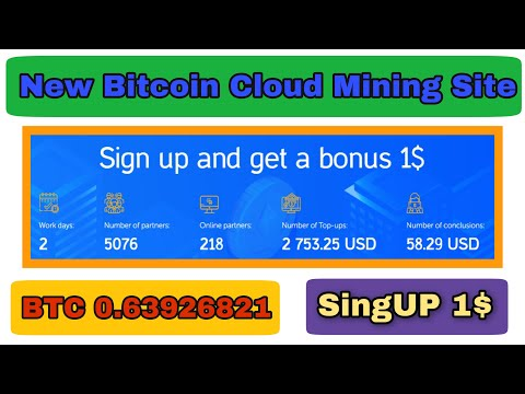 SingUP 1$ New Free Bitcoin Mining Website 2020 | Free Bitcoin Could Mining Website | ldumine Review