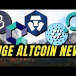 MAJOR ALTCOIN NEWS! Cardano ADA, Quant Network QNT, Crypto.com, ICON ICX, Band Protocol