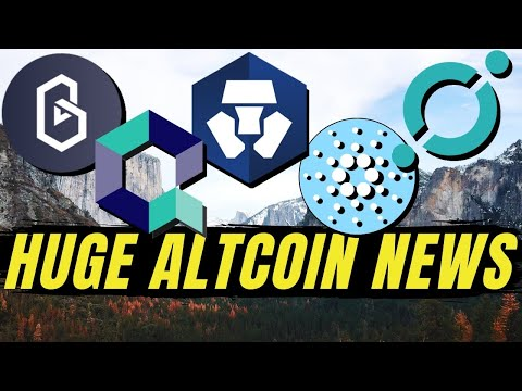 MAJOR ALTCOIN NEWS! Cardano ADA, Quant Network QNT, Crypto.com, ICON ICX, Band Protocol