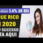 🛑CRYPTO-MINING🔊INCRÍVEL 💲 FIQUE RICO EM 2020 💲 AGORA É SÓ LUCRO💲 3.6% TODO DIA 💲22/07/20