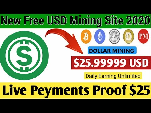 OMG New USD Cloud Mining Site 2020 ! New Bitcoin Earning Site 2020 ! + Live Peyments Proof +Giveaway