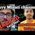 Carry Minati channel HACKED☠/bitcoin scam/how to keep your youtube channel safe?