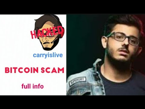 Carryislive hacked || bitcoin scam || channel temporarily freezed || neel vaze