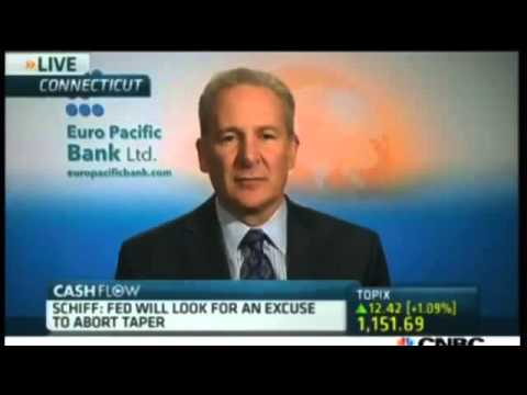 Peter Schiff economic collapse Market Headed Down Unless QE Resumes