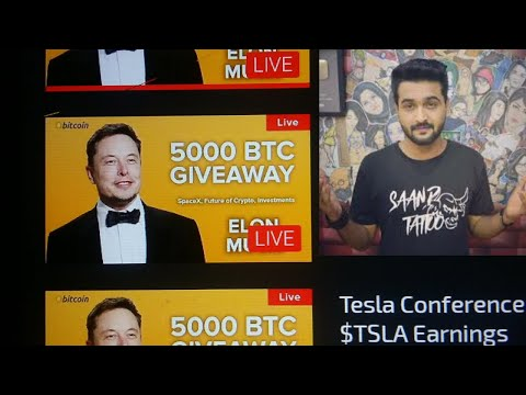 Khujlee family channel hacked Tesla live scam Bitcoin Scam Don't send BTC