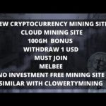 NEW BITCOIN MINING SITE | 100GH BONUS SIMILAR WITH CLOWERTY MINING | WITHDRAW 1 USD | NO INVESTMENT