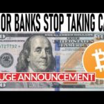 MAJOR BANKS TO STOP TAKING CASH! CHAINLINK READY TO RUN! BITCOIN PUMPED BY TRIL DOLLAR INVESTMENT CO